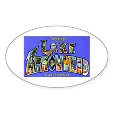 Lake Arrowhead California Greetings Oval Decal