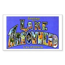 Lake Arrowhead California Greetings Bumper Stickers
