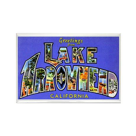 Lake Arrowhead California Greetings Rectangle Magn