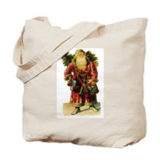 Vintage Santa with Bell Tote Bag