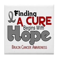 HOPE Brain Cancer 5 Tile Coaster