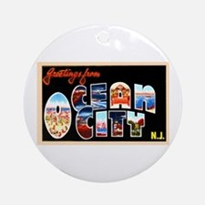 Ocean City New Jersey Ornament (Round)