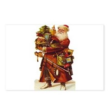 Vintage Santa with Gifts Postcards (Package of 8)