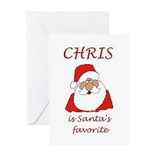 Chris Christmas Greeting Card