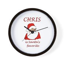 Chris Christmas Wall Clock
