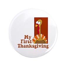 "First Thanksgiving 3.5"" Button (100 pack)"