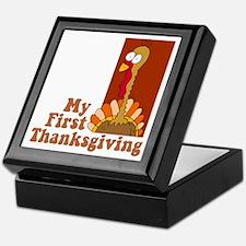 First Thanksgiving Keepsake Box