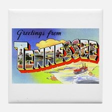 Tennessee Greetings Tile Coaster
