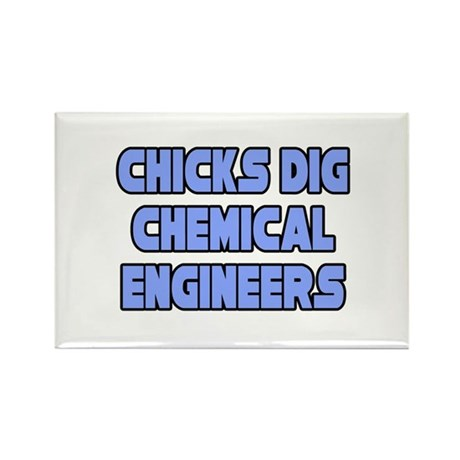 """Chicks Dig Chem. Engineers"" Rectangle Magnet"