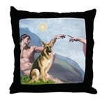 Creation / German Shepherd #2 Throw Pillow