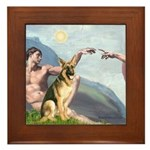 Creation / German Shepherd #2 Framed Tile