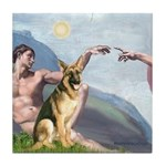 Creation / German Shepherd #2 Tile Coaster