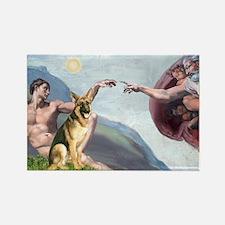 Creation / German Shepherd #2 Rectangle Magnet