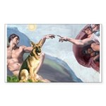 Creation / German Shepherd #2 Sticker (Rectangle 1