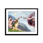 Creation / German Shepherd #2 Framed Panel Print