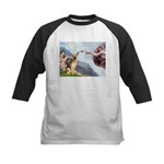 Creation / German Shepherd #2 Kids Baseball Jersey
