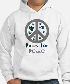 Paws for Peace Grey Hoodie