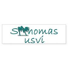 st thomas bumper sticker