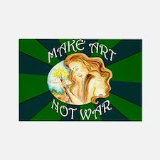 Make Art Not War Rectangle Magnet