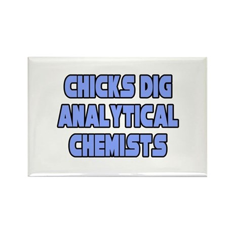 """Chicks Dig Analyt. Chemists"" Rectangle Magnet (10"