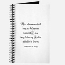 MATTHEW 10:33 Journal