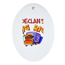 Declan's Big Rig Oval Ornament