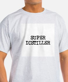 SUPER DISTILLER  Ash Grey T-Shirt