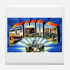 Ohio Greetings Tile Coaster