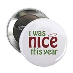 "I Was Nice This Year 2.25"" Button (100 pack)"