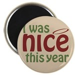 "I Was Nice This Year 2.25"" Magnet (10 pack)"