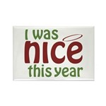 I Was Nice This Year Rectangle Magnet (100 pack)