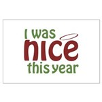 I Was Nice This Year Large Poster