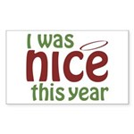 I Was Nice This Year Rectangle Sticker