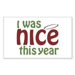 I Was Nice This Year Rectangle Sticker 10 pk)