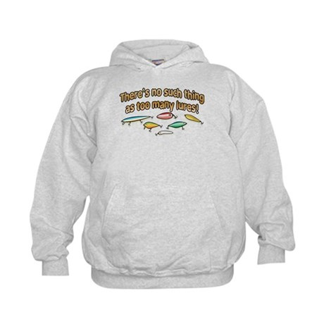 NO SUCH THING AS TOO MANY LURES Kids Hoodie