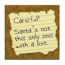 Santa's List Tile Coaster