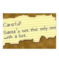 Santa's List Postcards (Package of 8)