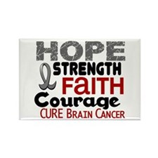 HOPE Brain Cancer 3 Rectangle Magnet