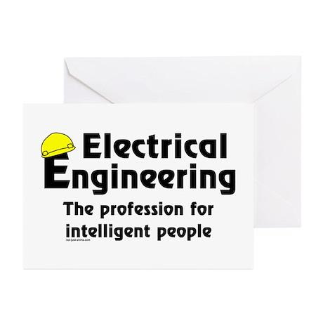 Smart Elec. Engineer Greeting Cards (Pk of 10)