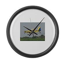 Ag Aviation Large Wall Clock