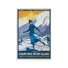 Chamonix France Rectangle Magnet
