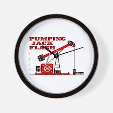 Pumping Jack Flash Wall Clock