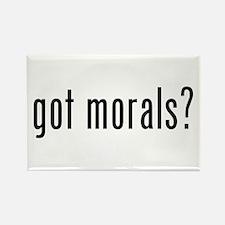 got morals? Rectangle Magnet