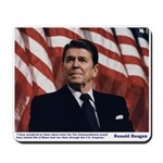 Reagan on the Ten Commandments Mousepad