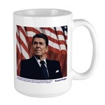 Reagan on the Ten Commandments Large Mug