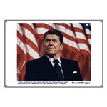 Reagan on the Ten Commandments Banner