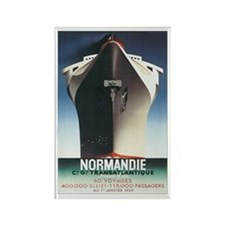 Normandie Ship France Rectangle Magnet (10 pack)