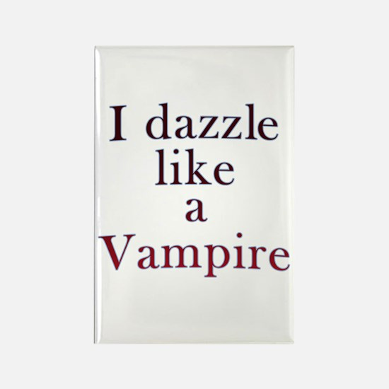 I kiss like a Vampire Rectangle Magnet