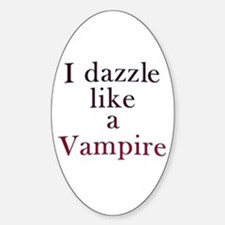 I kiss like a Vampire Oval Decal