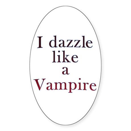 I kiss like a Vampire Oval Sticker